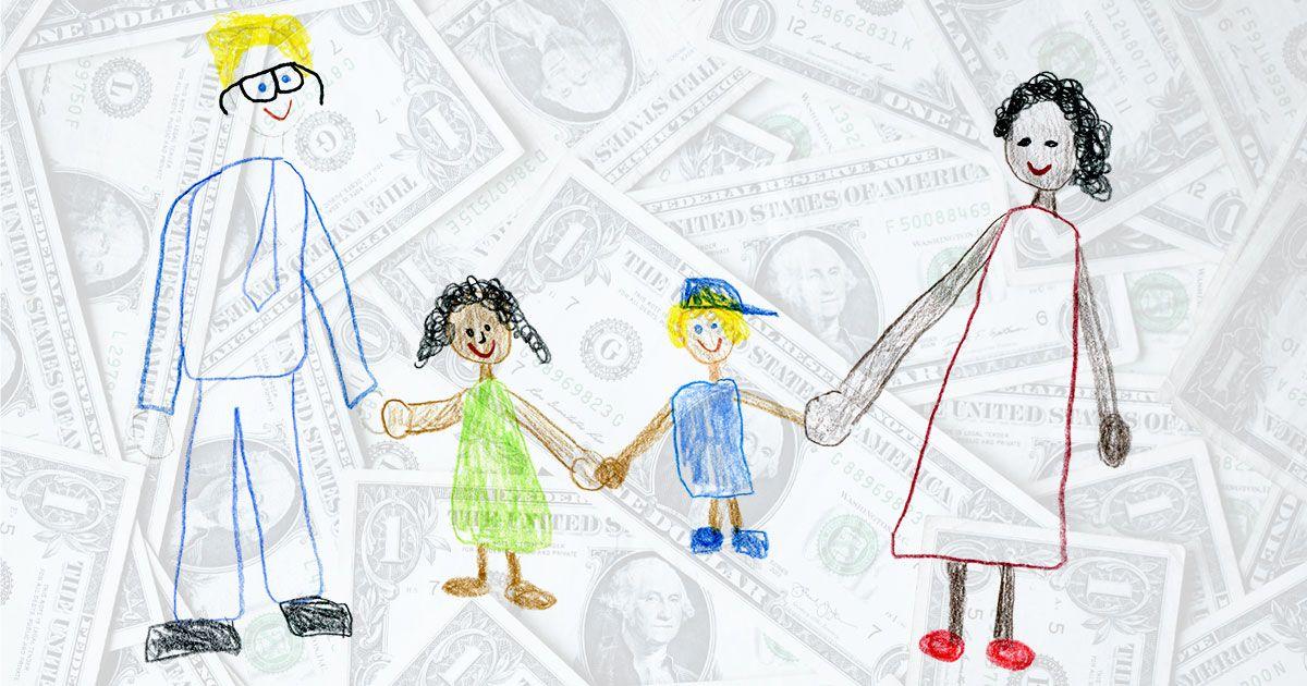 Was ist ein existenzsichernder Lohn für die amerikanische Familie?