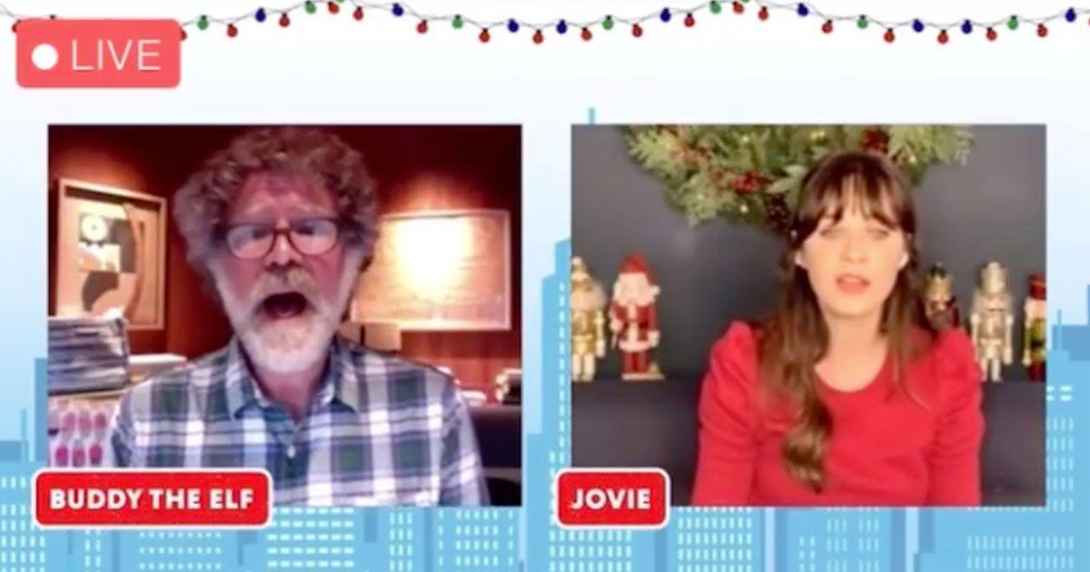 Zooey Deschanel e Will Ferrell rievocano il loro duetto in bagno da 'Elf'