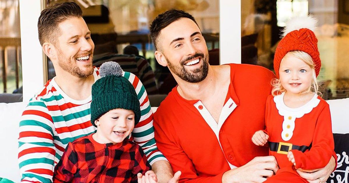 Real Life Two Dad Family Stars In Old Navy Christmas Ad