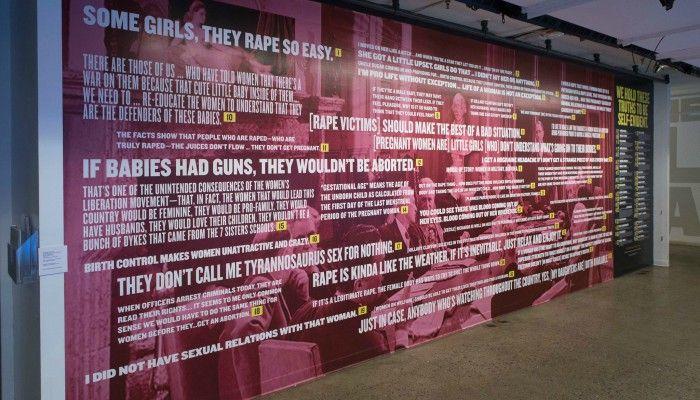 Künstlerinnen machen ein Wandgemälde aus den schrecklichsten Dingen, die männliche Politiker über Frauen gesagt haben